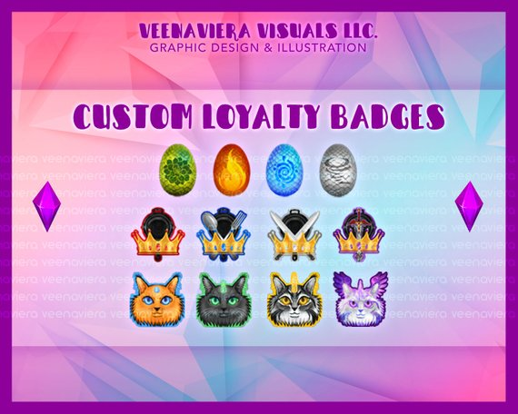 Twitch Sub Loyalty Badges (Set of 5) | Products in 2019