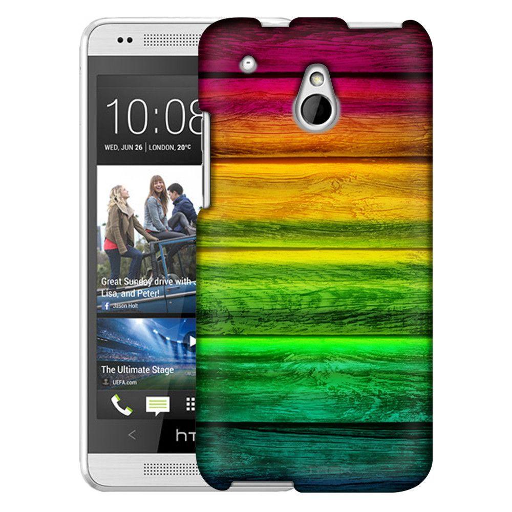 HTC One Mini Red to Green Wood Floors Slim Case