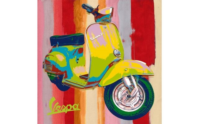 Pin By Ramble Room On Vintage Ideas Vespa Illustration Pop Art Art