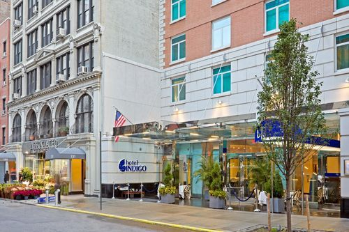 Entrance of Hotel Indigo NYC Chelsea - with Blu on the right