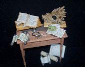 Dollhouse Miniature Medieval SCYTHE Farm Tool Medieval Tudor Victorian Haunted Halloween. $10.00, via Etsy.