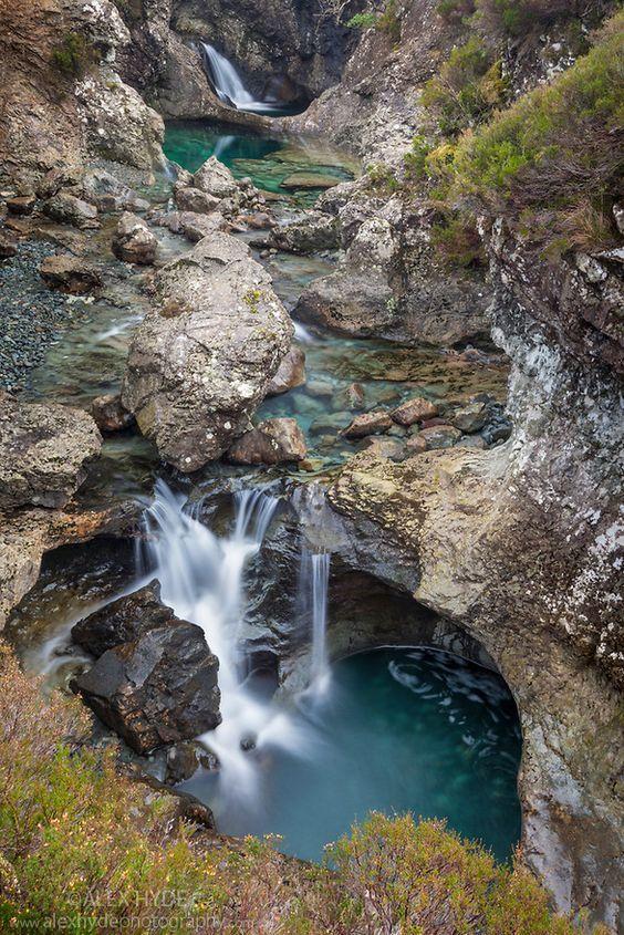 Fairy Pools Isle of Skye  Western Scotland by Alex Hyde