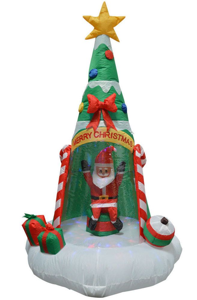 Canopy Christmas Decorations Inflatables Santa Outdoor Holiday - inflatable outdoor christmas decorations