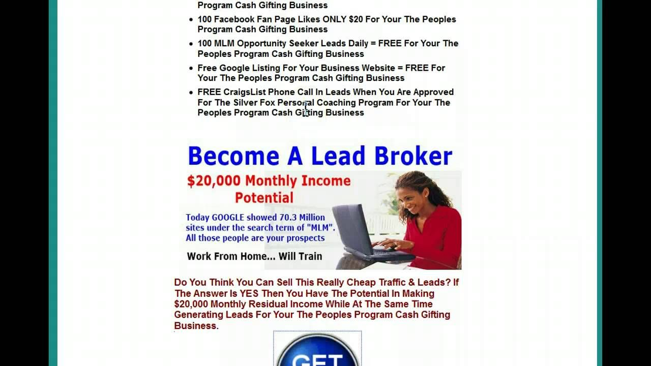 The Peoples Program Cash Gifting How Generate Free 100