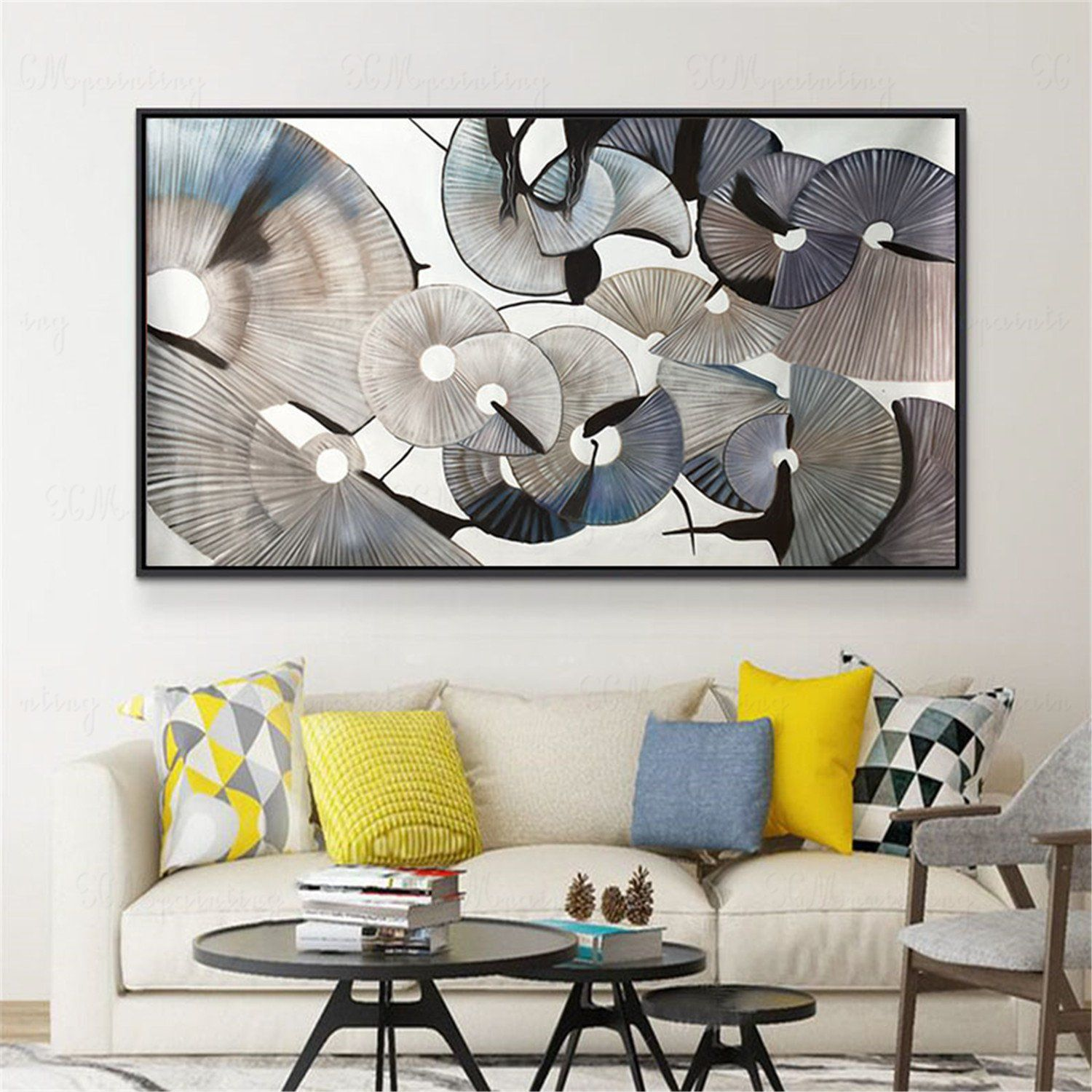 Abstract Painting On Canvas Wall Art Pictures For Living