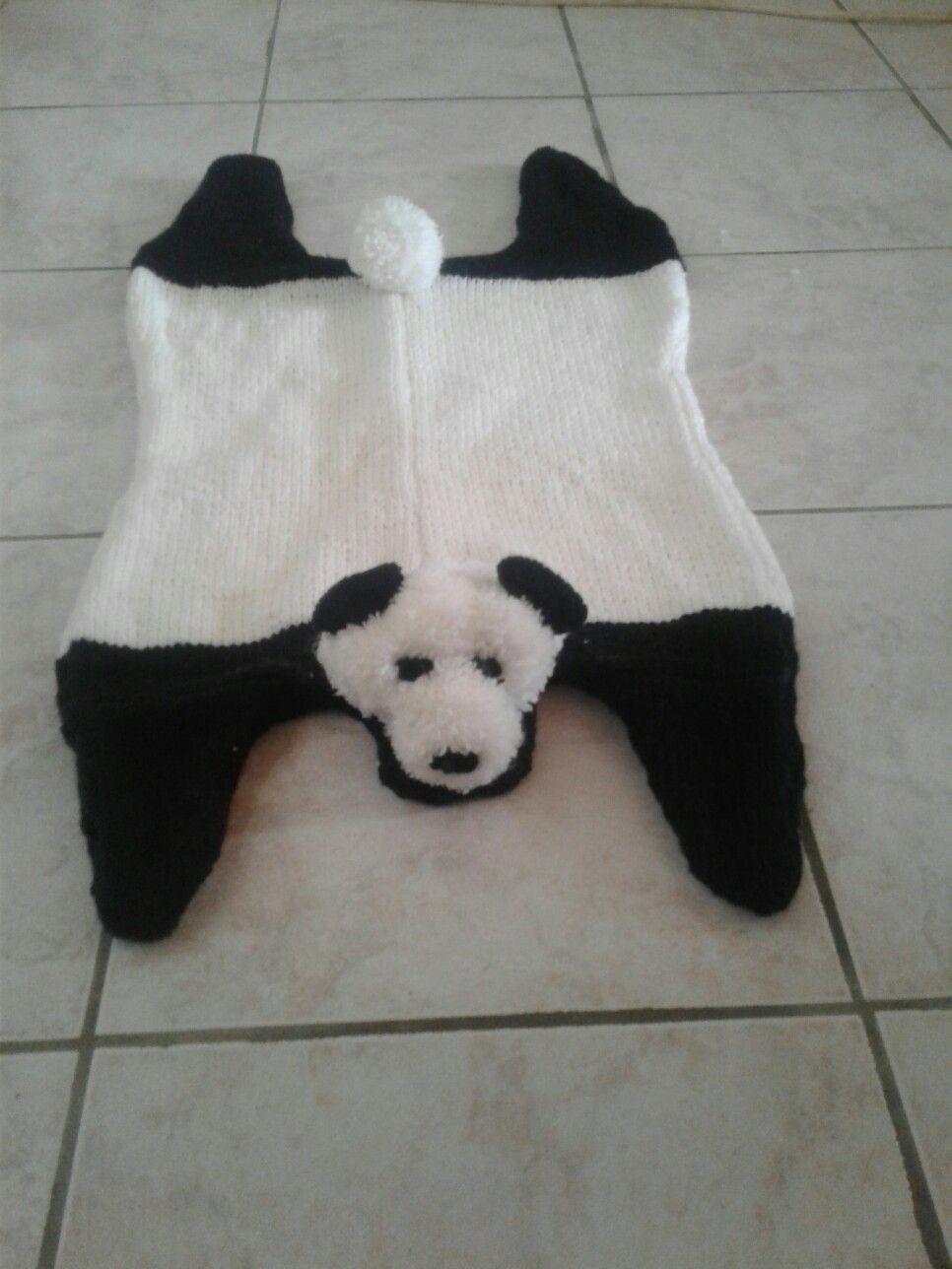 Panda tricot et pompons