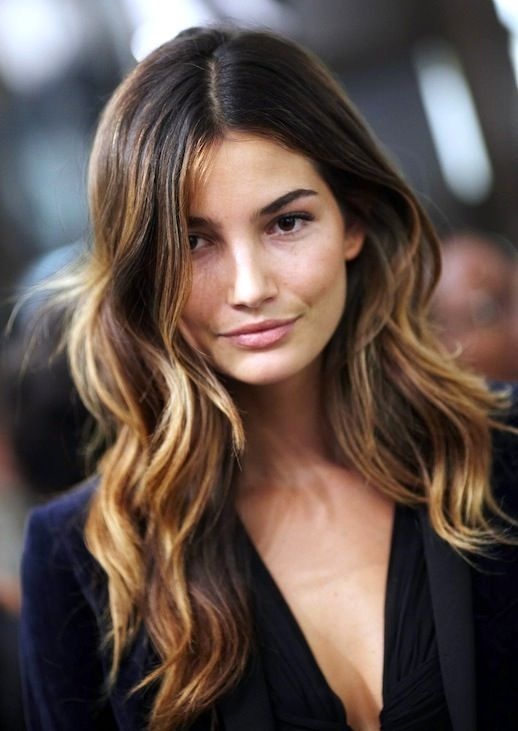 Le Fashion Blog 7 Dark Ombre Hair Looks Inspiration Lily Aldridge Via About  Balayage Model Beauty