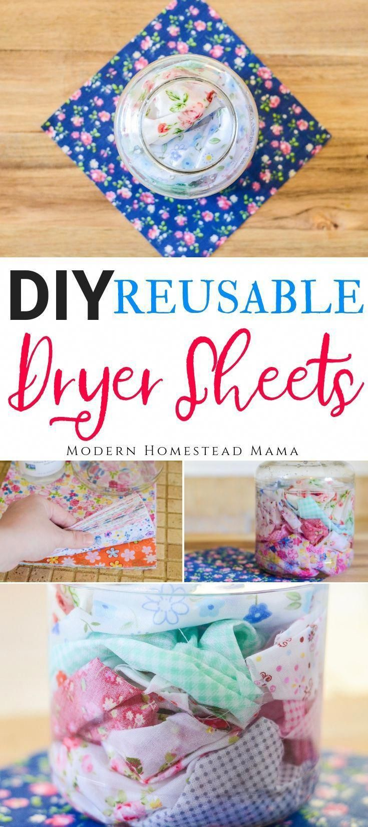 DIY Dryer Sheets - Reusable and Natural. These DIY Dryer Sheets are simple, natural, and safe for se...