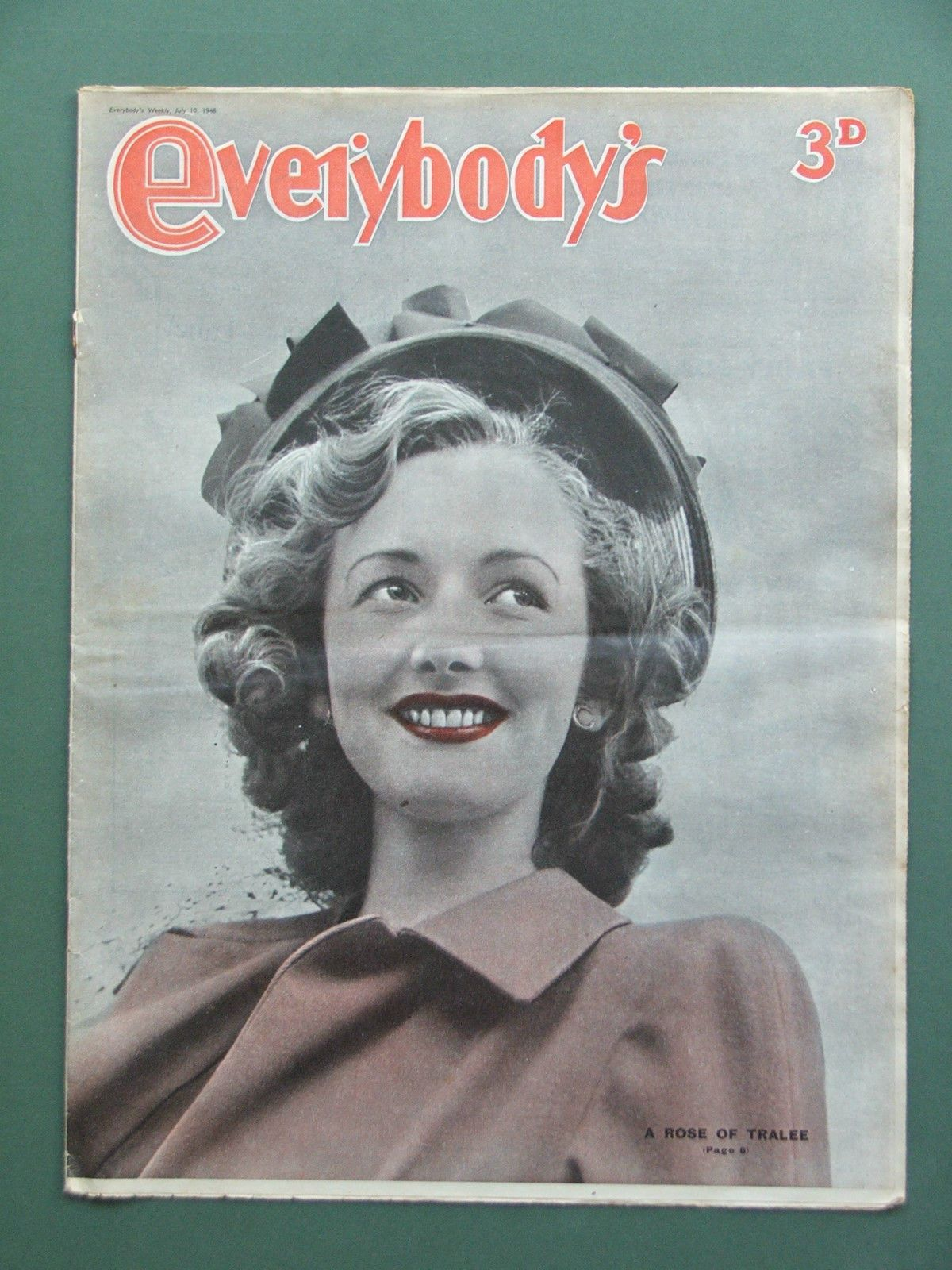 Everybody S Magazine July 10th 1948 Ventriloquism Windmills Speedway Riding The Rose Of Tralee Tralee Festival