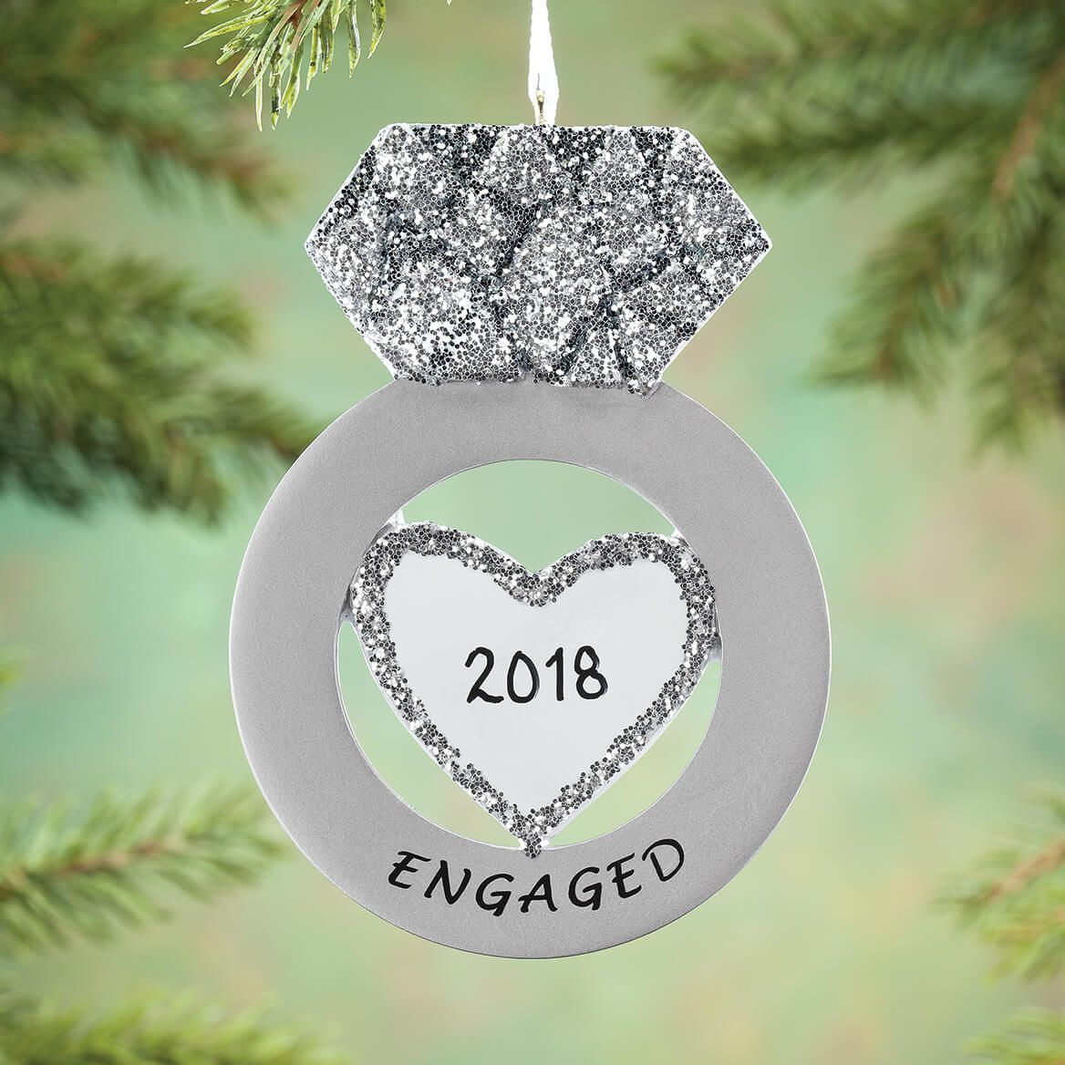 Personalized engagement ring ornament new christmas ornaments