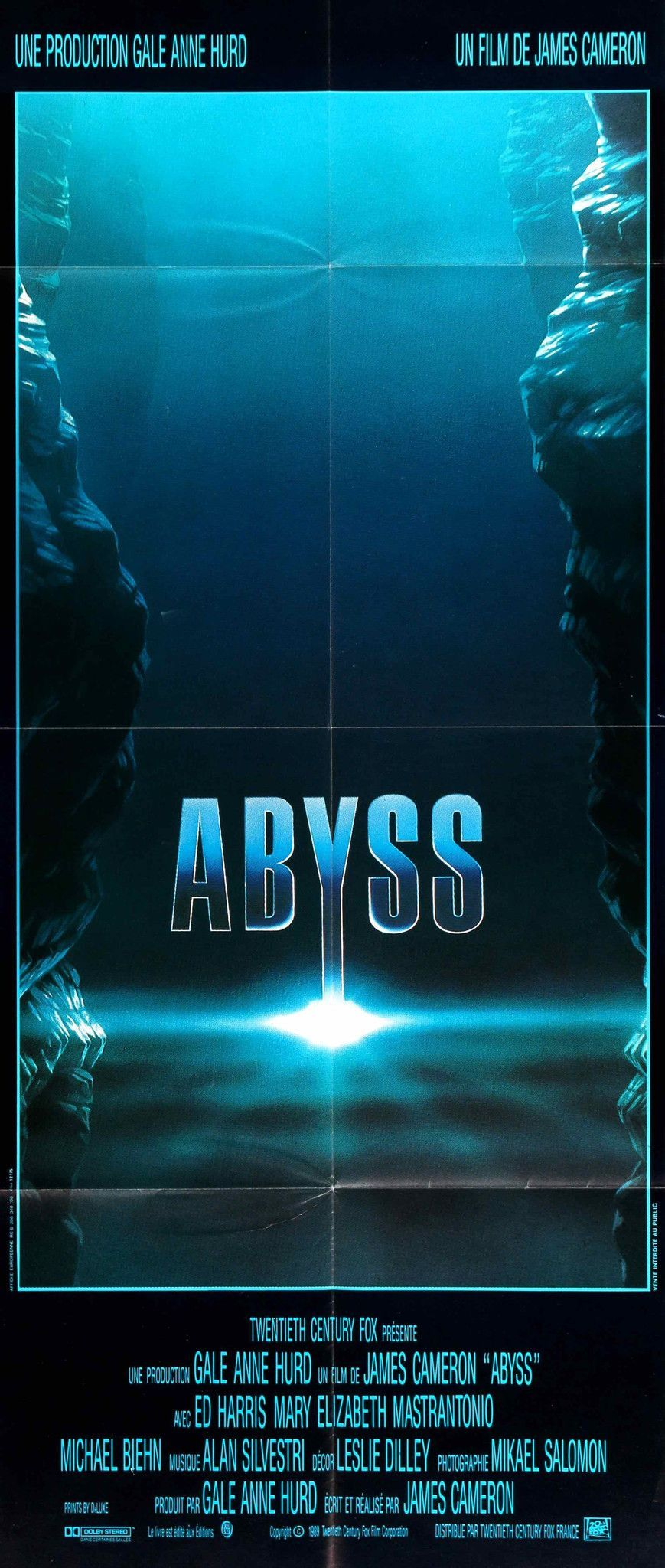 Abyss 1989 Movie Posters French Movie Posters Movie Posters Vintage