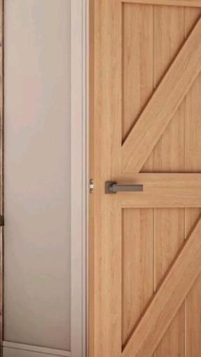 Oak ledge and brace style doors