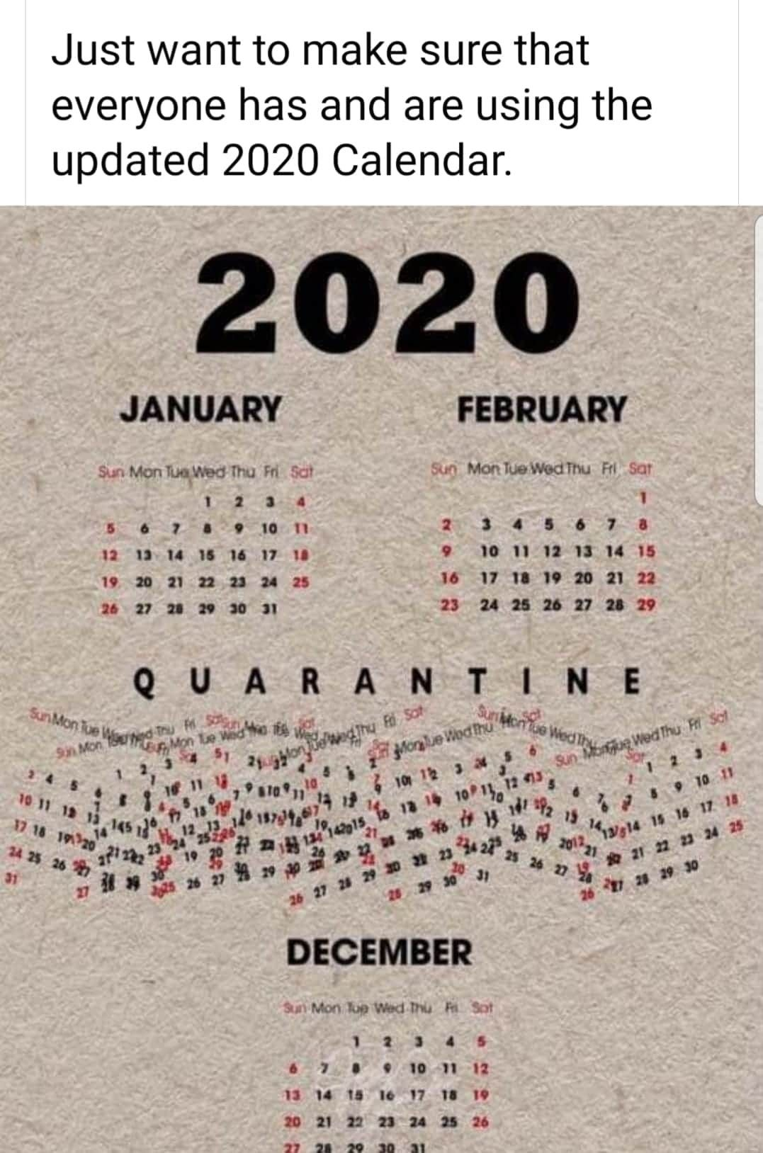 Funny Calendar Quotes For Each Month