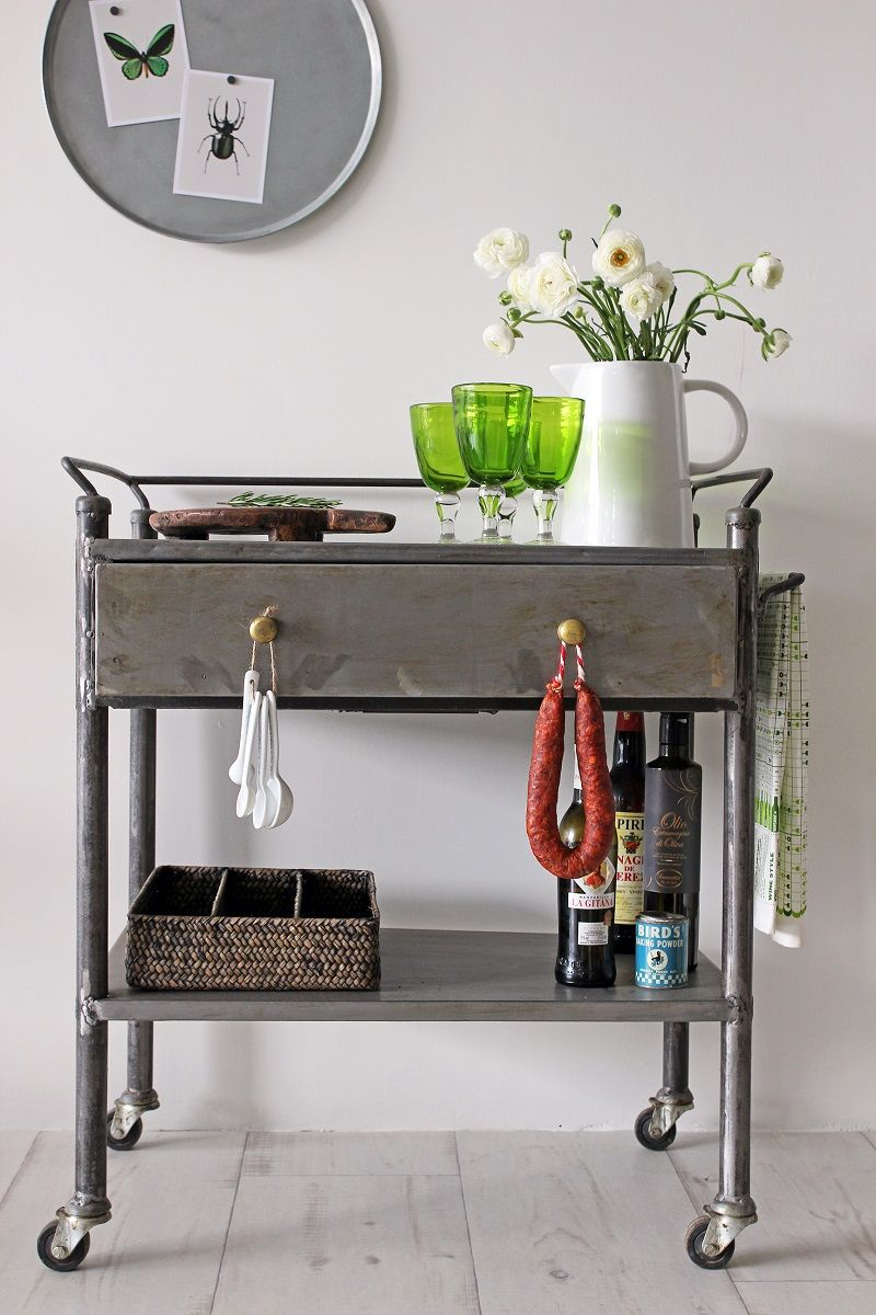 Industrial Kitchen Sideboard Trolley, Rockett St George. Cute for ...