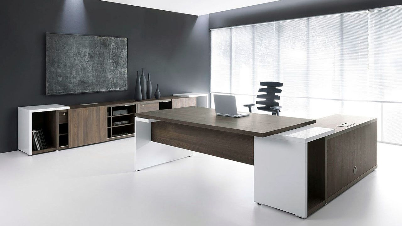 Ultra Modern Executive Black Desk Ambience Dore Executive