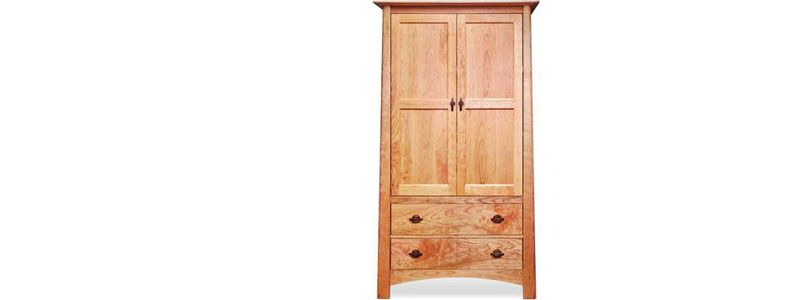 Armoires, Wardrobes. Natural Cherry Wood. Handcrafted, Made To Order,  Customized