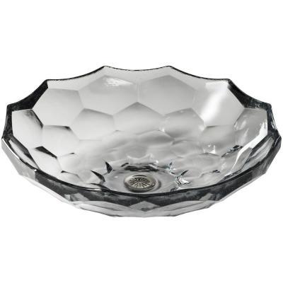 KOHLER Briolette Glass Vessel Sink in Ice - K-2373-B11 - The Home Depot