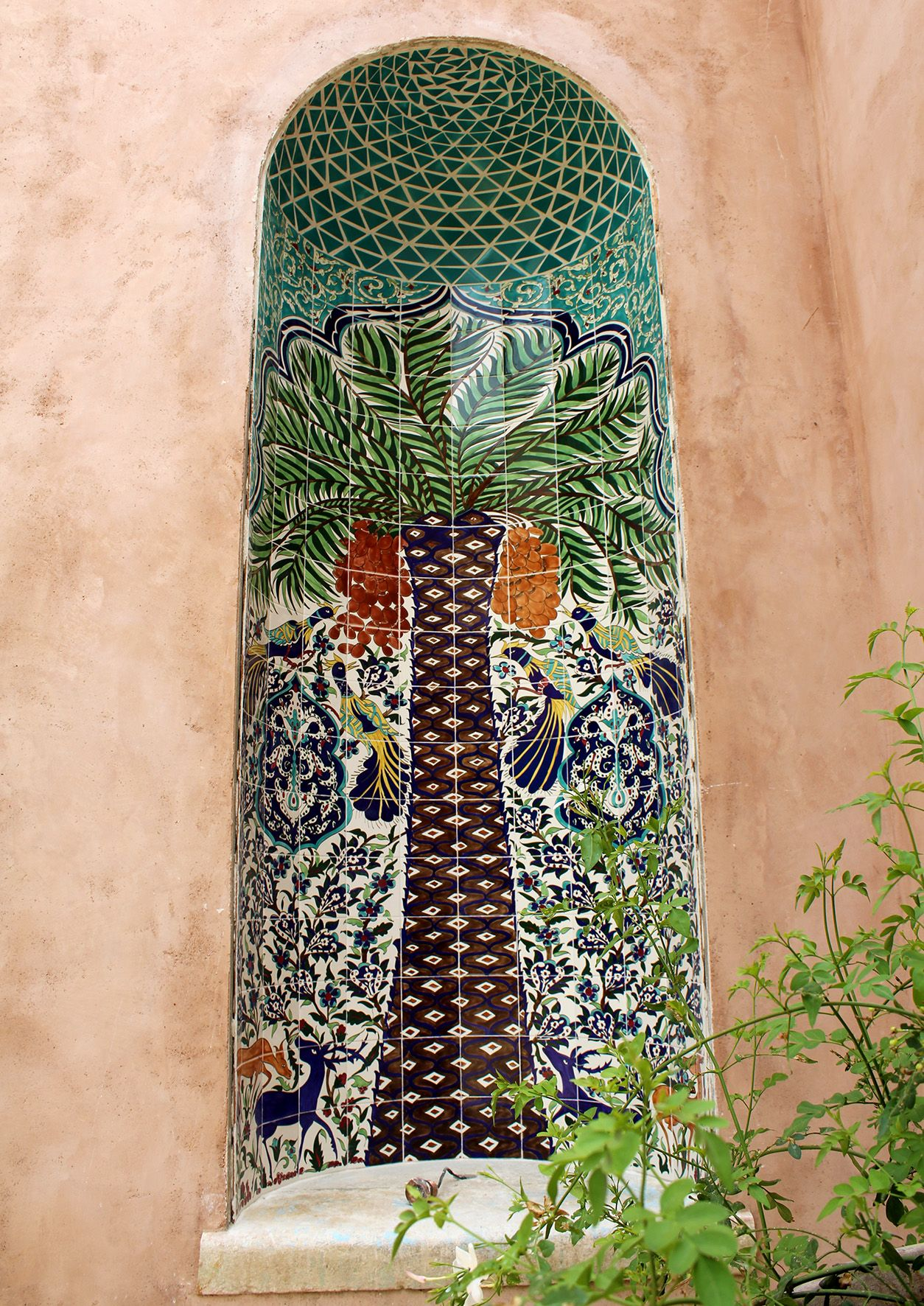 Custom Hand Painted Tile Mural By Balian Ceramics Of Jerum Palestine