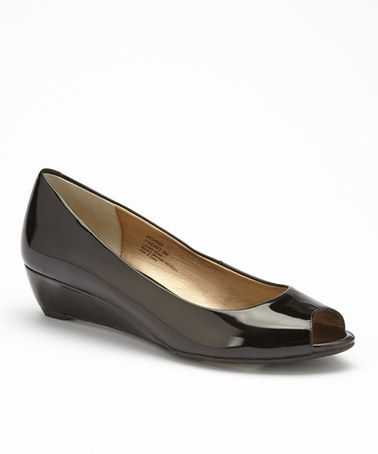 Another great find on zulily! Black Patent PeepToe