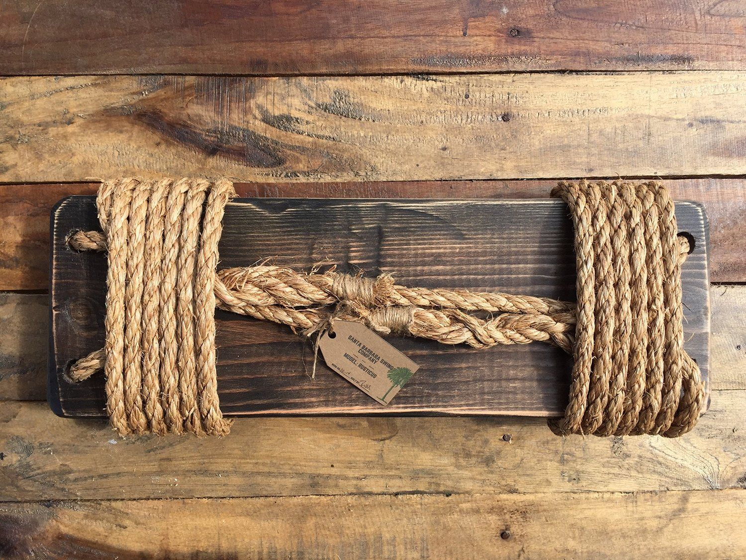 Amazon.com: Rustic Tree Swing. 12 Ft of Natural Rope & Easy Hanging Hardware. For Adults or Kids.: Toys & Games