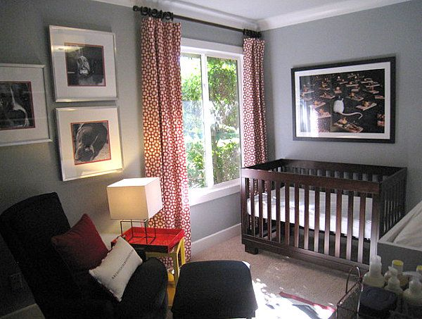 Small Nursery Decorating Ideas To Welcome Baby: Small Contemporary Nursery  ~ CHUCKFERRARO Kids Room Inspiration
