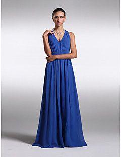 Lanting Floor-length Chiffon Bridesmaid Dress - Royal Blue P... – GBP £ 55.99