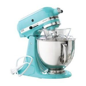 Kitchen Aid Stand Mixer! I can't decide what color I want! I really on turquoise blender, turquoise stand mixer, turquoise hand mixer,