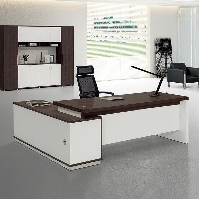 New Design Eco Friendly Wooden Office Computer Table Modular Melamine Executive Furniture