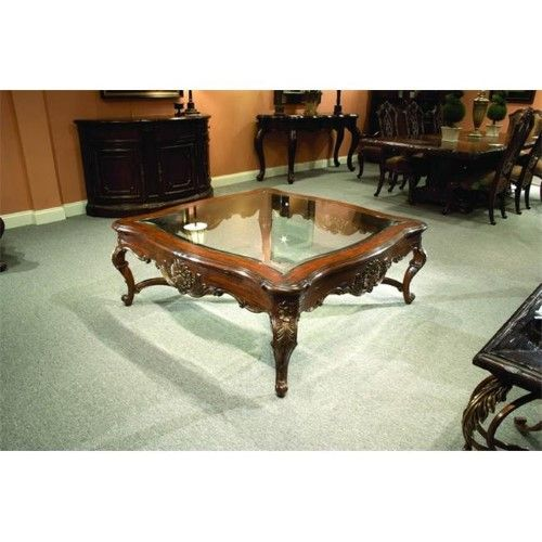 Miraculous Eastern Legends 57310 Marguax Coffee Table With Glass Top Gmtry Best Dining Table And Chair Ideas Images Gmtryco