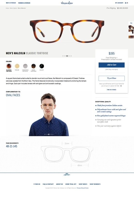 2bec9966329b stevenalanoptical #website #optical #glasses | Design & Shit ...