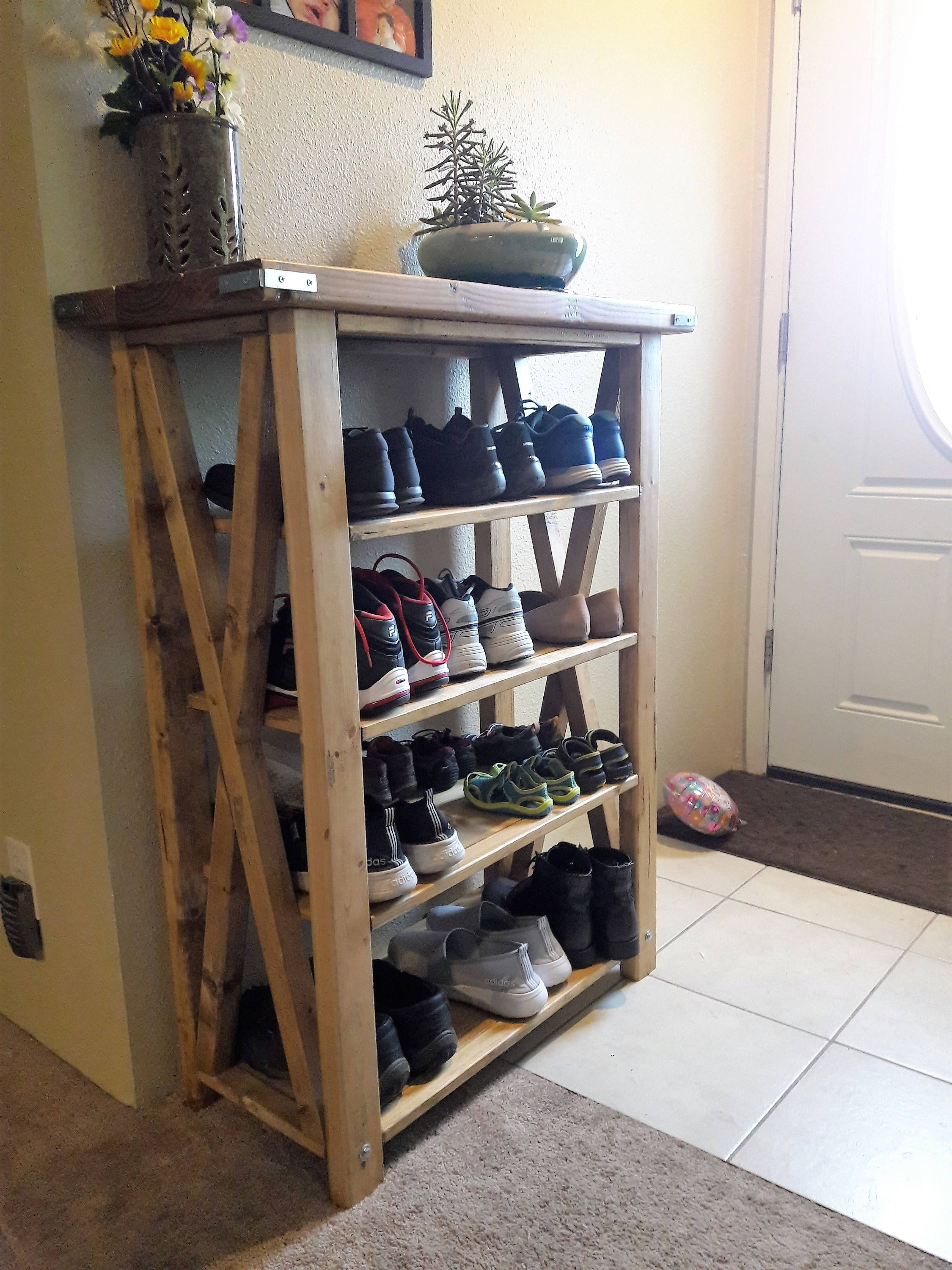 Shoe Rack Etsy Shoe Rack Living Room Diy Shoe Rack Rustic