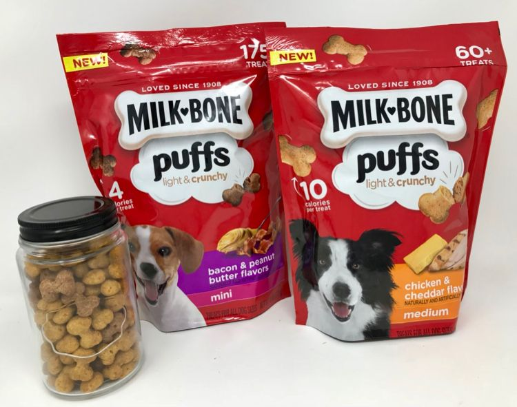 Diy Dog Treat And Leash Station Milk Bone Puffs Milk Bone Dog Treats Diy Dog Treats Dog Treats