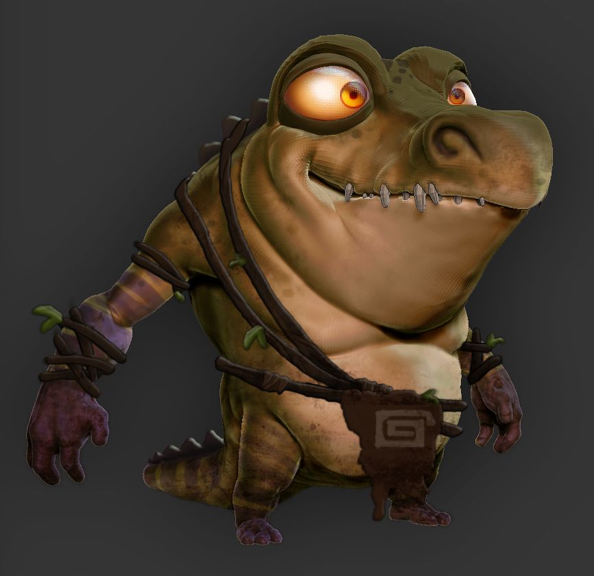 Croc By Duncanfraser On Deviantart Low Poly Character Design