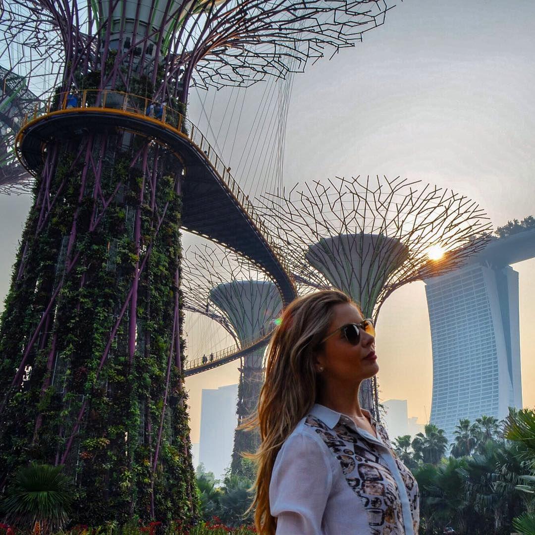 """""""Gardens by the bay, Singapura  É sem dúvidas o lugar mais lindo da cidade! Não é à toa que foi construído para ser o símbolo nacional. O ponto alto da…"""""""