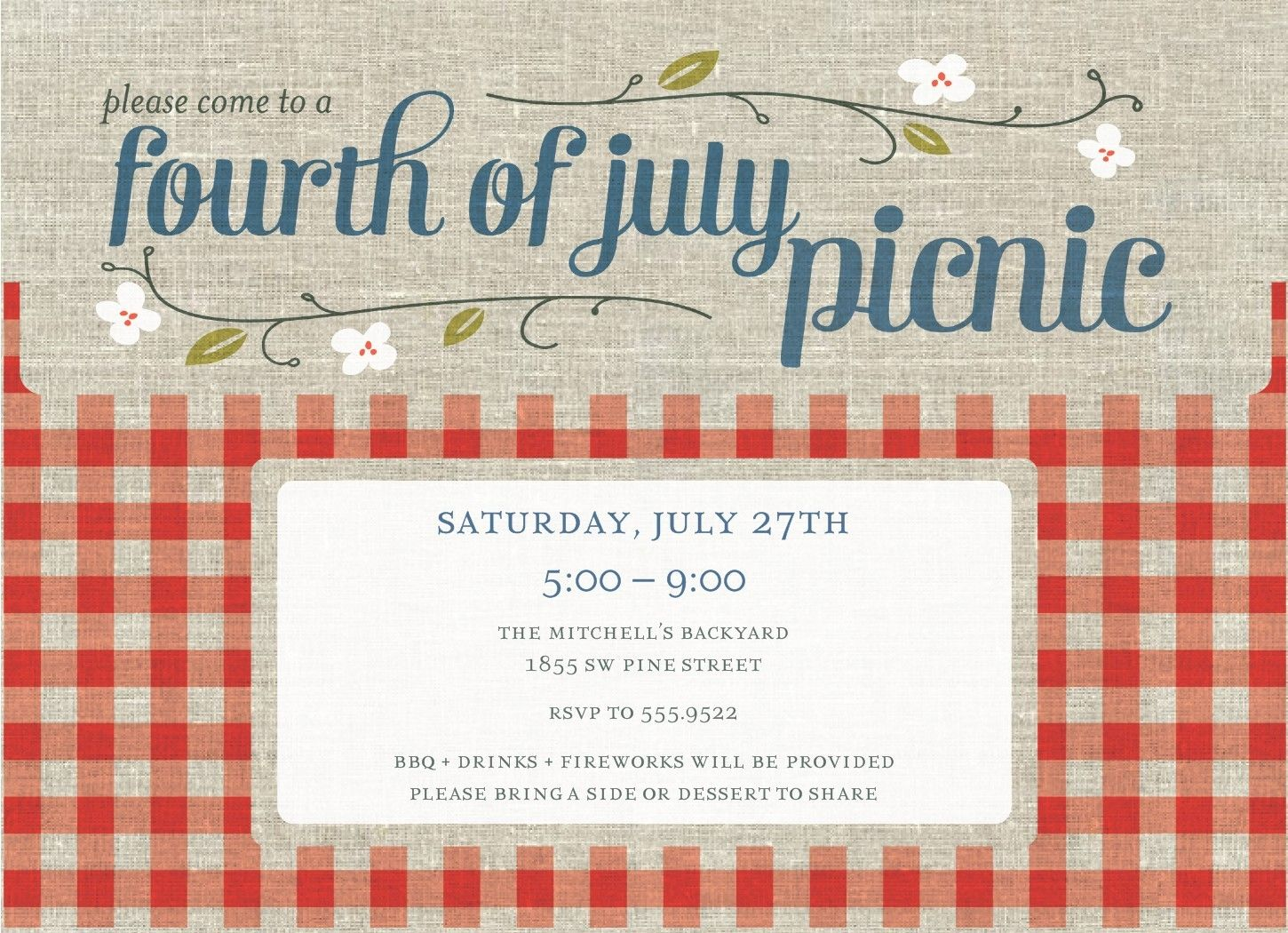 picture regarding Free Printable Picnic Invitation Template named Loved ones Picnic Invitation Templates Free of charge totally free printables