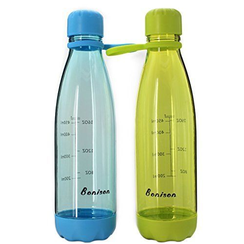 Bonison Sports Bottle With Soft Handle Bpa Free 23 Oz Leak Proof And Eco Friendly With Cola Shaped Green Blue Valued 2 Bottle Sport Bottle Fancy Water Bottles