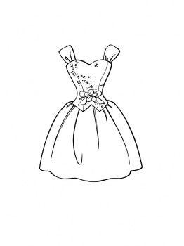 Beautiful Dress Elbise Boyama Colouring Pages Wedding Ve Dresses