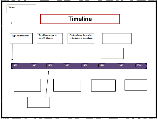 Timeline Template  Projects To Try    Timeline