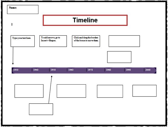 Timeline Template  Computer Technology    Timeline