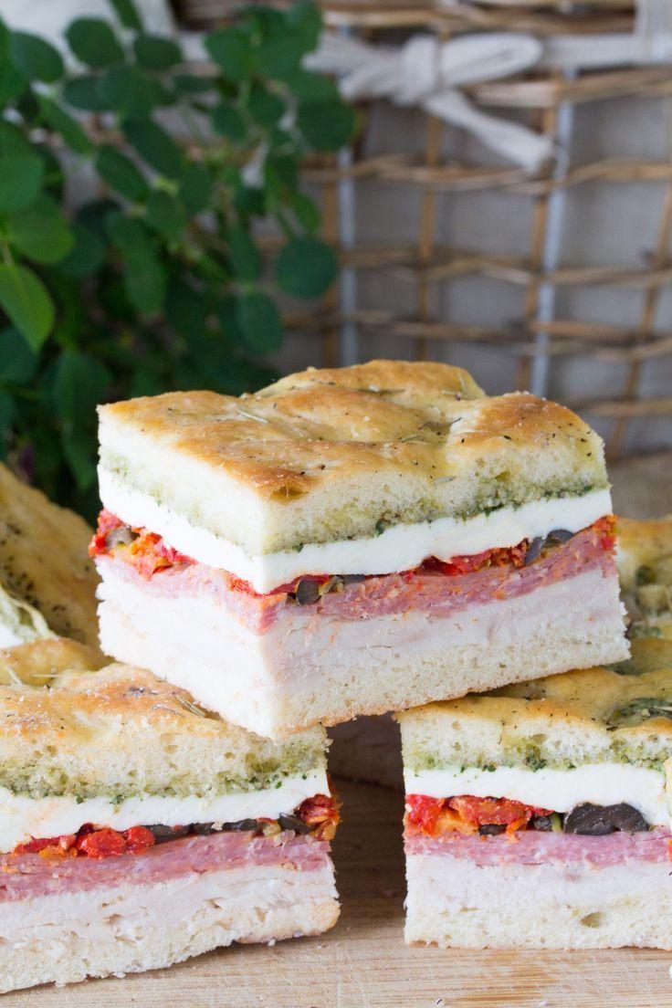 Pressed Italian Picnic Sandwiches