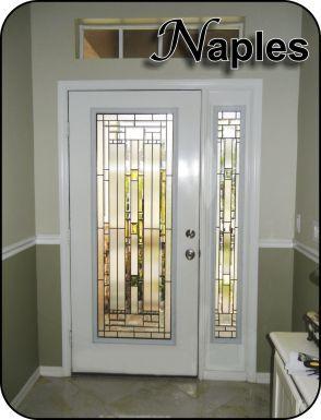 Modern glass door inserts for fiberglass prehung exterior for Front door glass insert