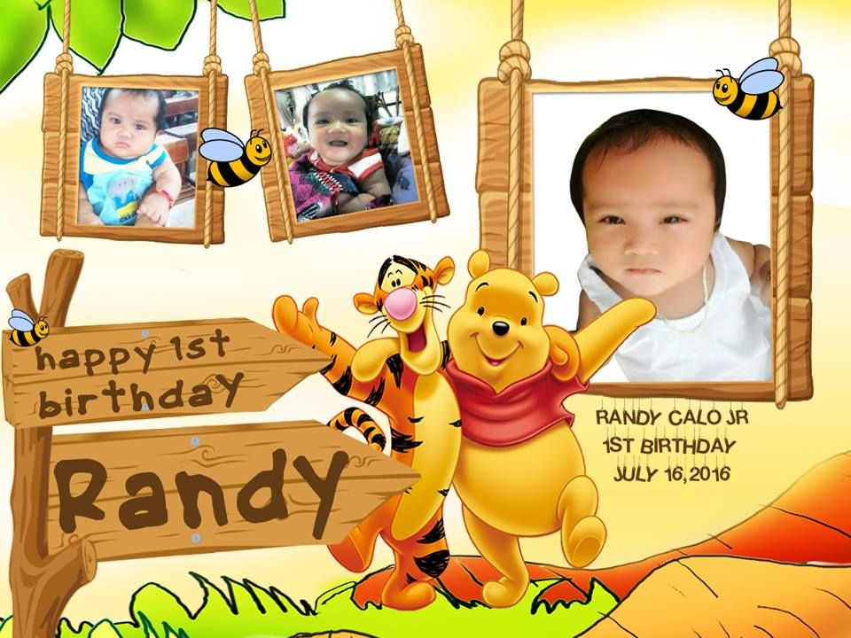 Image Result For First Birthday Tarpaulin Layout Design Little