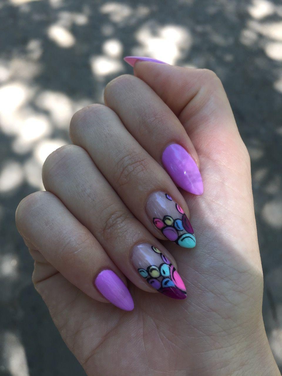 #nails #nailsdecoration #manicure #almondmanicure #almondanails #purplenails