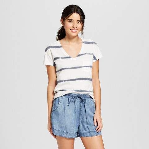 cdfc0a1ff9 Universal Thread Women's Monterey Pocket V-Neck T-shirt - Universal ...