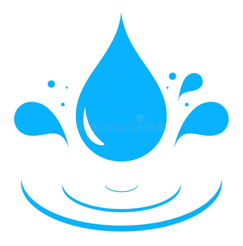Water Droplet And Gr Vectors Icon With Blue Drop Stock Ilration Image 53921099