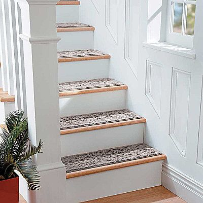 Best Washable Embossed Stair Treads Carpet Stairs Interior 640 x 480