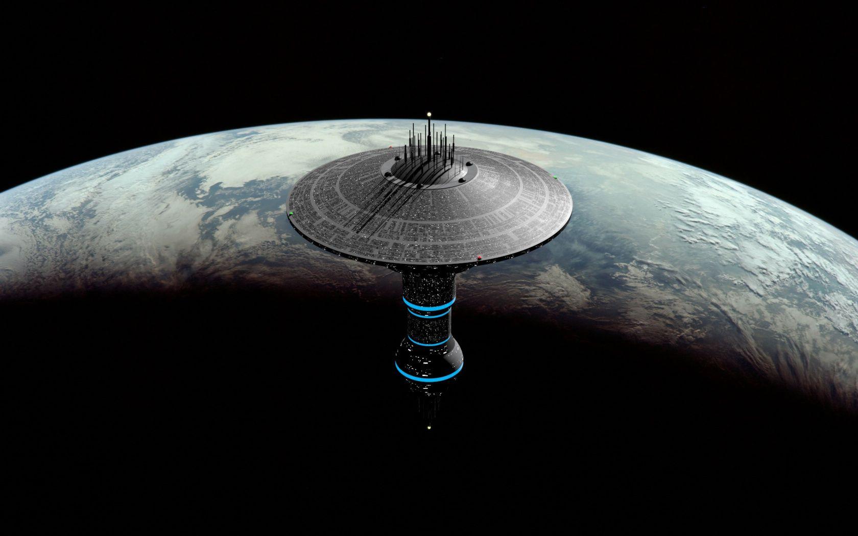 futuristic donut space station - photo #17