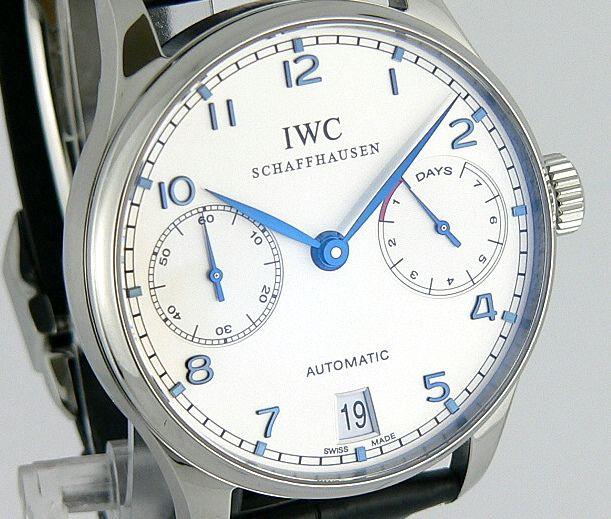 IWC Portuguese Automatic in white & blue