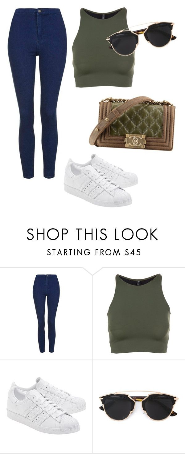 """Без названия #3021"" by pakalova ❤ liked on Polyvore featuring beauty, Topshop, Onzie, Chanel, adidas Originals and Christian Dior"
