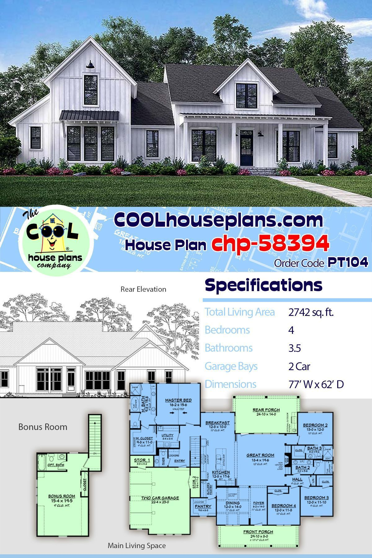Farmhouse Home Plans With 4 Bedrooms At Cool House Plans This Modern Far Farmhouse Home Pl In 2020 House Plans Farmhouse Best House Plans House Plans